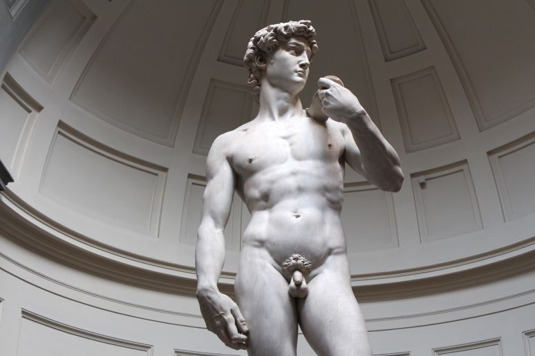 Closeup of David Sculpture in Florence