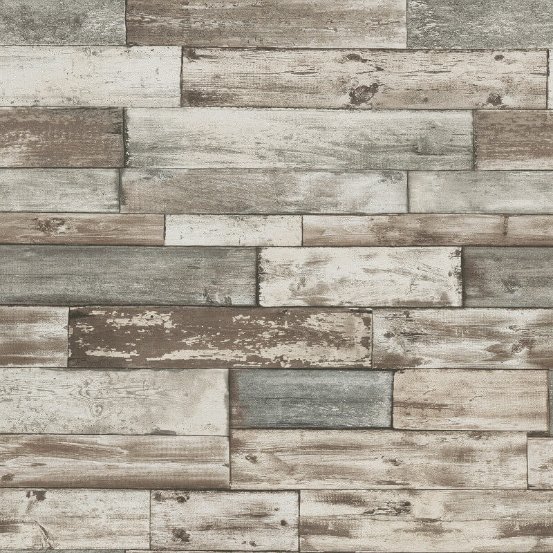 Authentic Wallpaper: Erismann Authentic Wood Panel Wallpaper In Grey