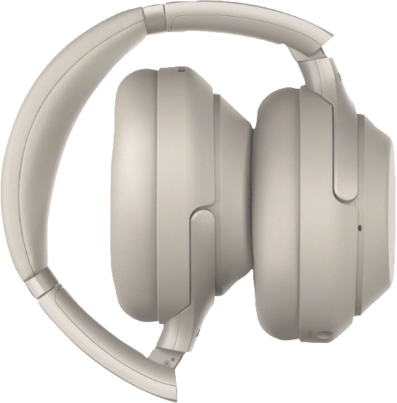 Silver Sony WH-1000 XM3 Over-ear Bluetooth Headphones.2