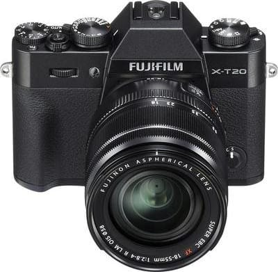 Black Fujifilm Camera with lens X-T20 XF 18-55mm 24MP BLACK.3