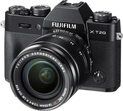 Black Fujifilm Camera with lens X-T20 XF 18-55mm 24MP BLACK.5