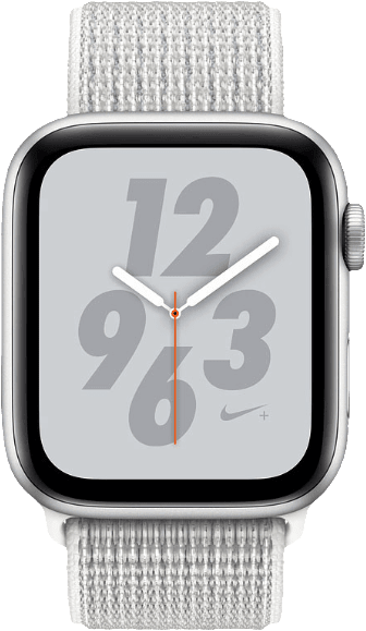 Silver Woven Apple Watch Nike+ Series 4 GPS + Cellular, 44mm.1