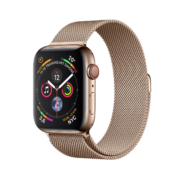 Milanese Gold Apple Watch Series 4 GPS + Cellular, 44mm Stainless steel case, Milanaise Loop.2