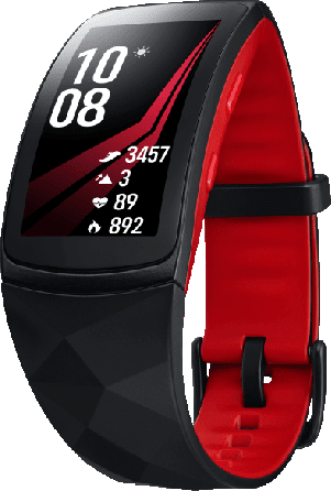 Black / Red Samsung Gearfit 2 Pro Activity Tracker.1