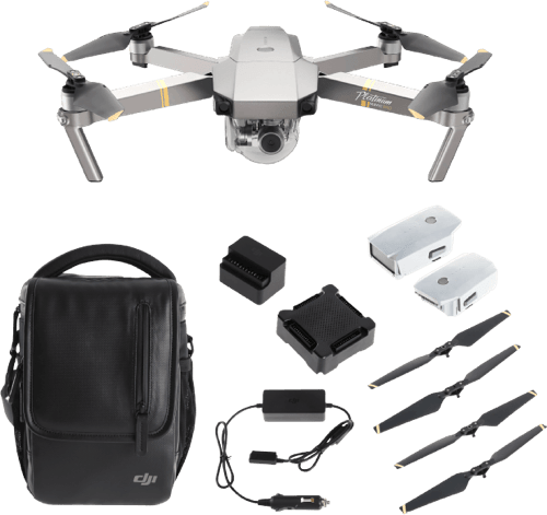 Black DJI Mavic Pro Platinum Fly More Combo.1