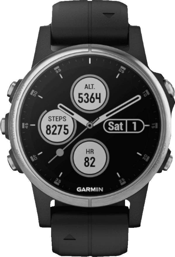 Black Garmin Fēnix® 5S Plus, 20 mm.1