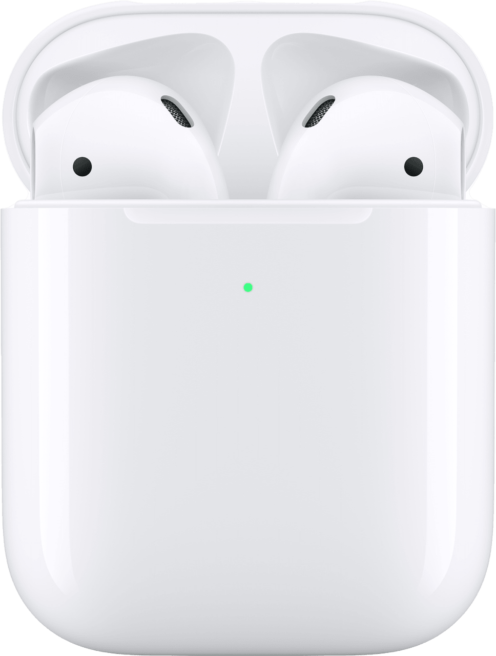 White Apple AirPods with Wireless Charging Case (2019 Gen 2).1