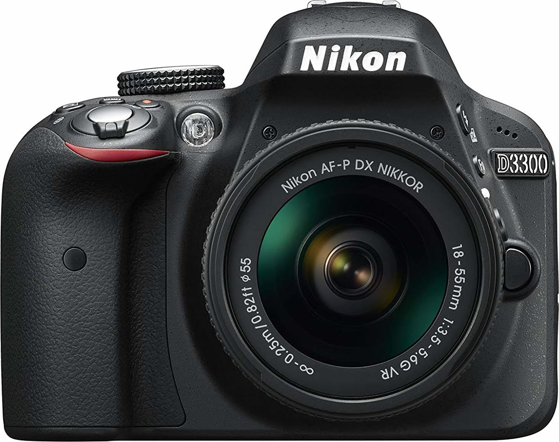 Black Nikon D3300 SLR Digital Camera Kit + AF-P 18-55 VR black.1