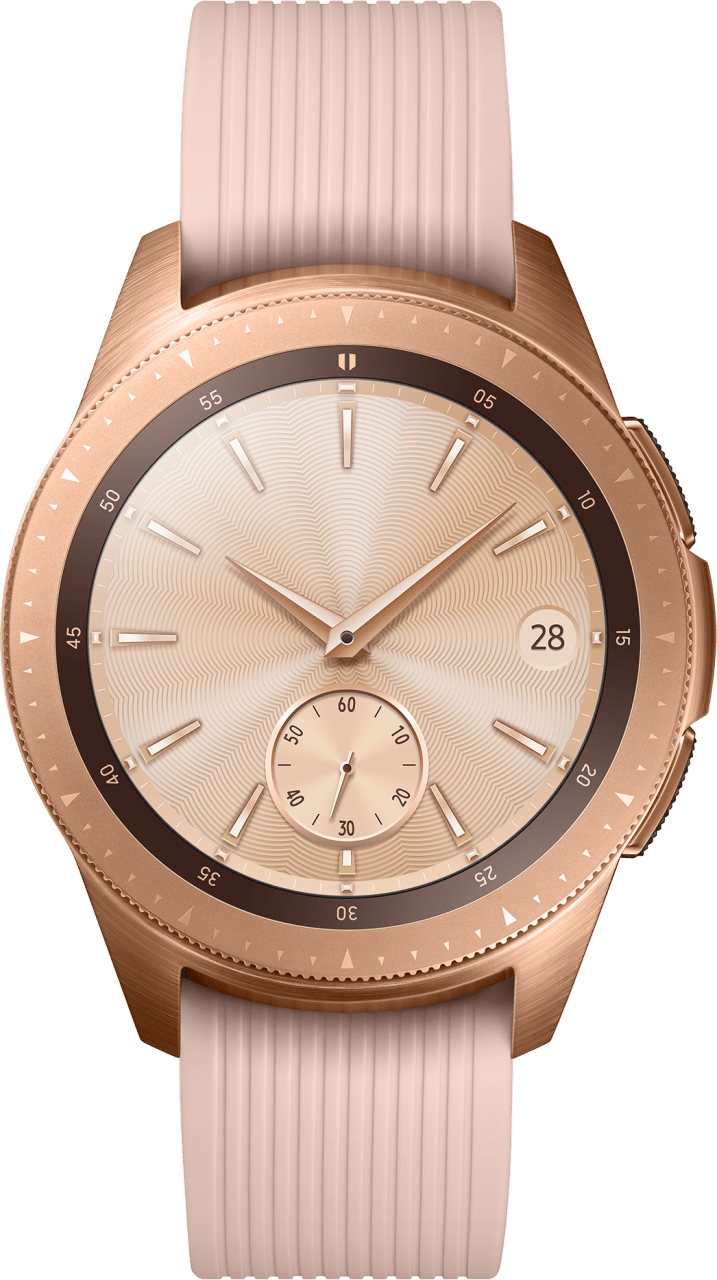 Rose Gold Samsung Galaxy Watch LTE, 42mm Stainless steel case, Silicone band.1
