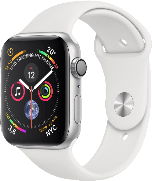White & Silver Apple Watch Series 4 GPS + Cellular, 40mm.2