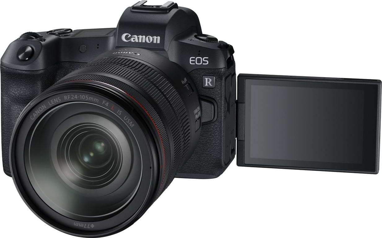 Black CANON EOS R Kit with RF24-105MM F4.0 and EF-EOS R Adapter.1