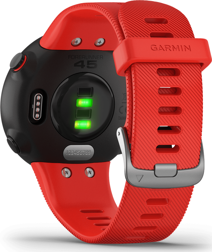Red Garmin Forerunner 45.3