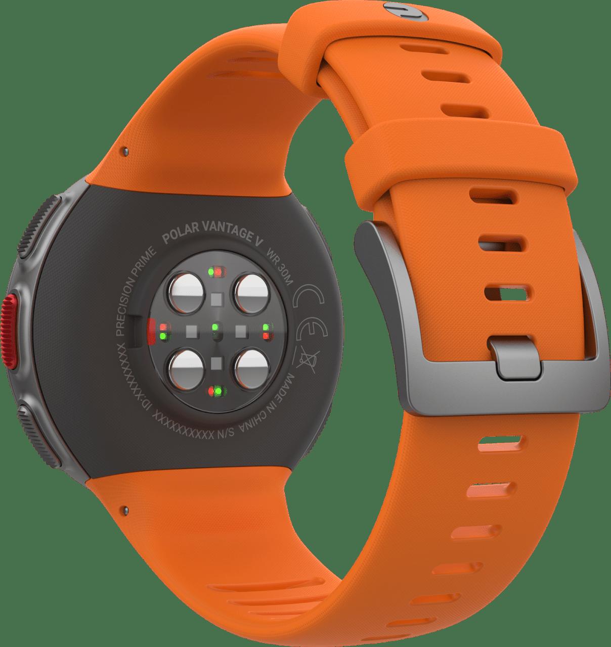 Orange Polar Vantage V GPS Sports watch.4