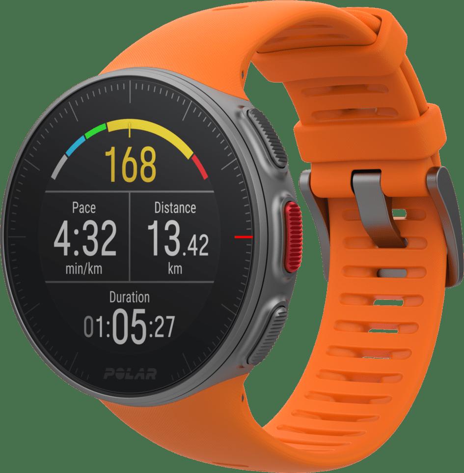 Orange Polar Vantage V GPS Sports watch.1