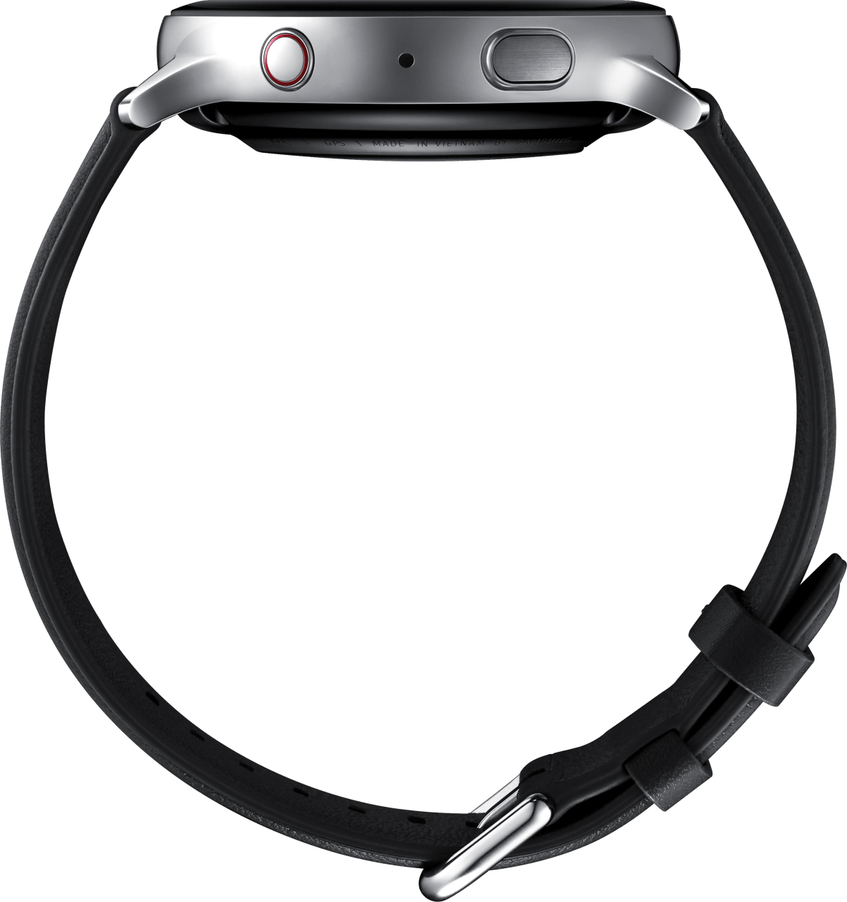 Silver Samsung Galaxy Watch Active2 (LTE), 44mm Stainless steel case, Leather band.4
