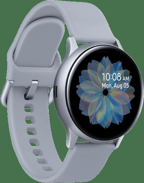 Cloud Silver Samsung Galaxy Watch Active2, 40mm Aluminium case, Sport band.2