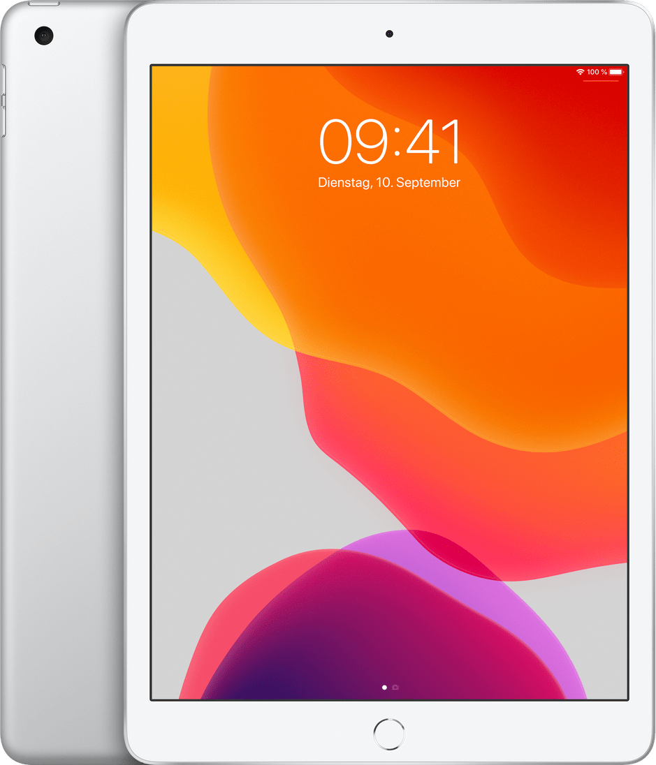 Silver Apple iPad (2019) Wi-Fi + Cellular 128GB.1