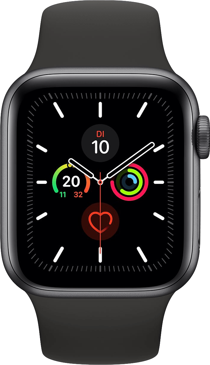 Schwarz Apple Watch Series 5 GPS, 44mm.1