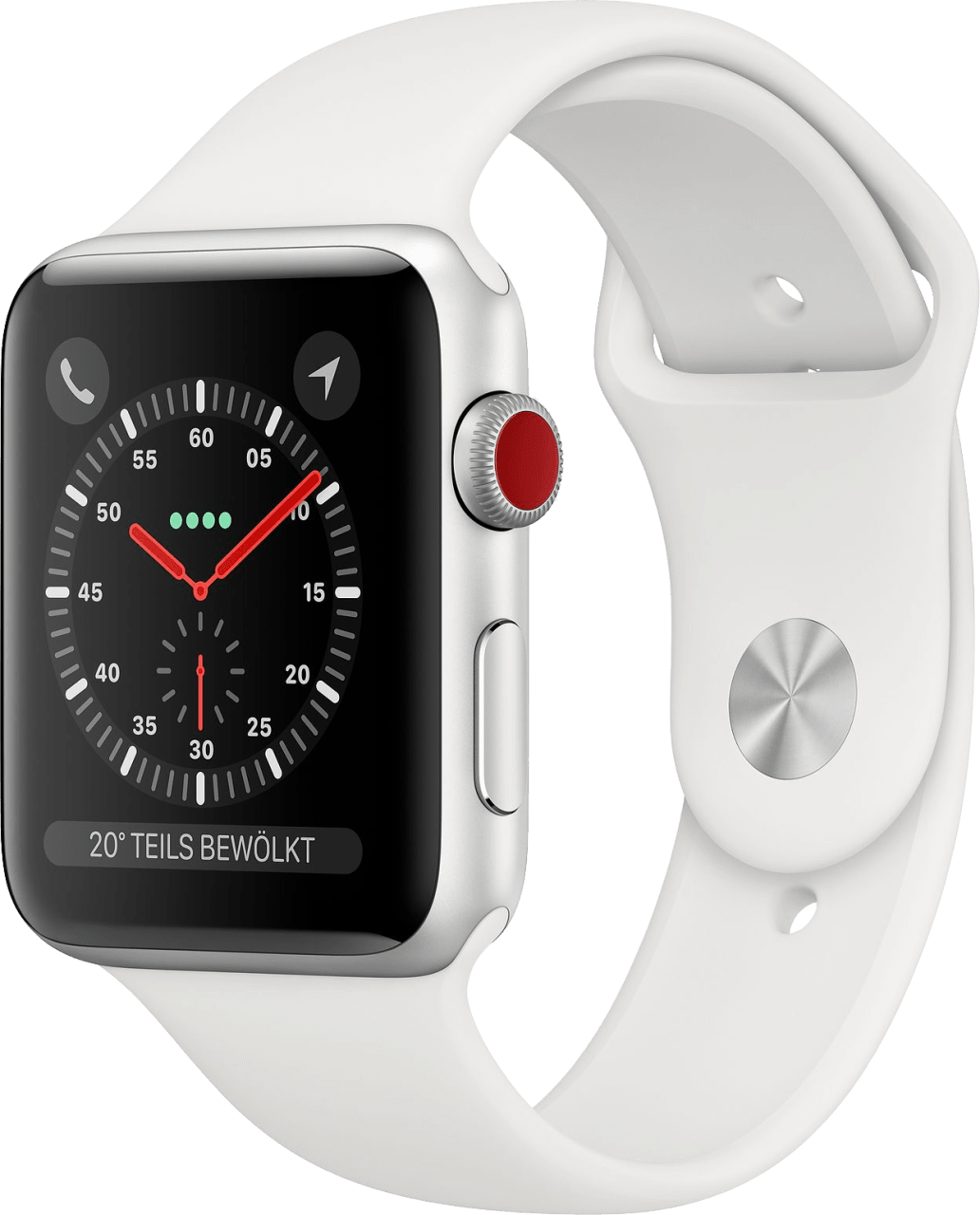 White Apple Watch Series 3 GPS + Cellular, 42mm.2