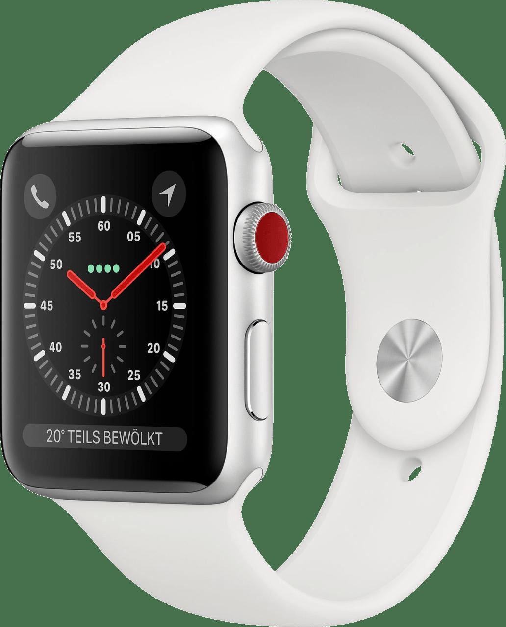 Weiß Apple Watch Series 3 GPS + Cellular, 42mm.2