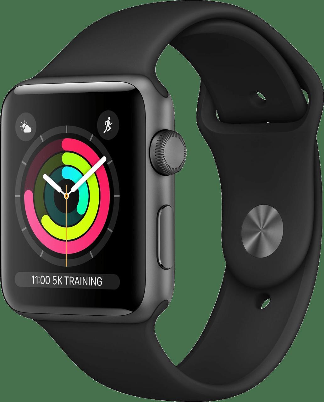 Schwarz Apple Watch Series 3 GPS, 38mm.2