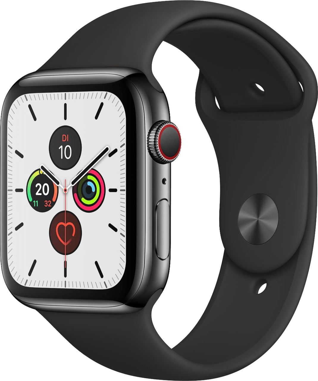 Black Apple Watch Series 5 GPS + Cellular, 44mm.2