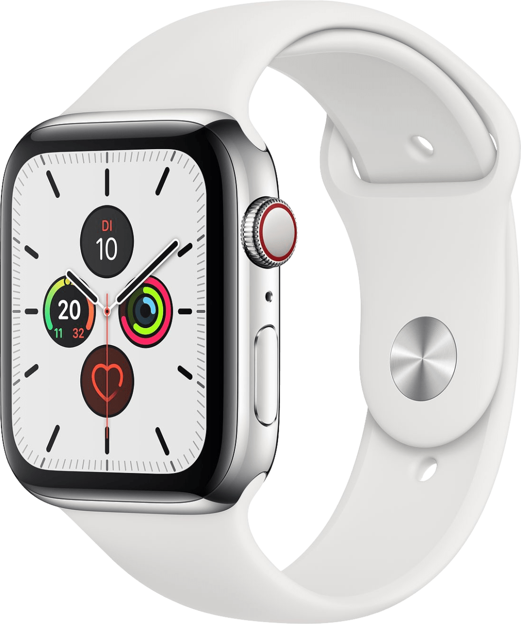 White Apple Watch Series 5 GPS + Cellular, 44mm.2