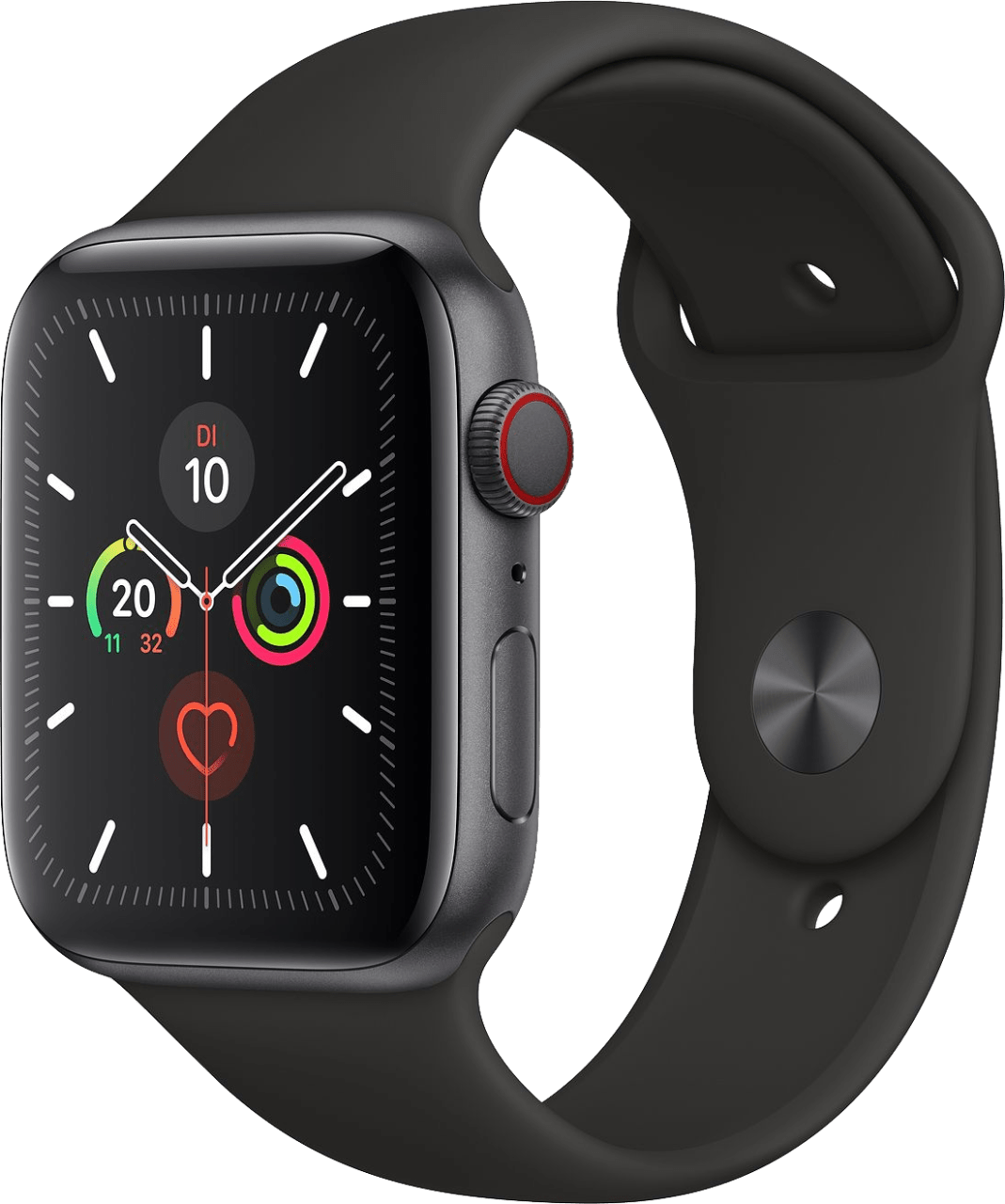 Schwarz Apple Watch Series 5 GPS + Cellular, 44mm.2