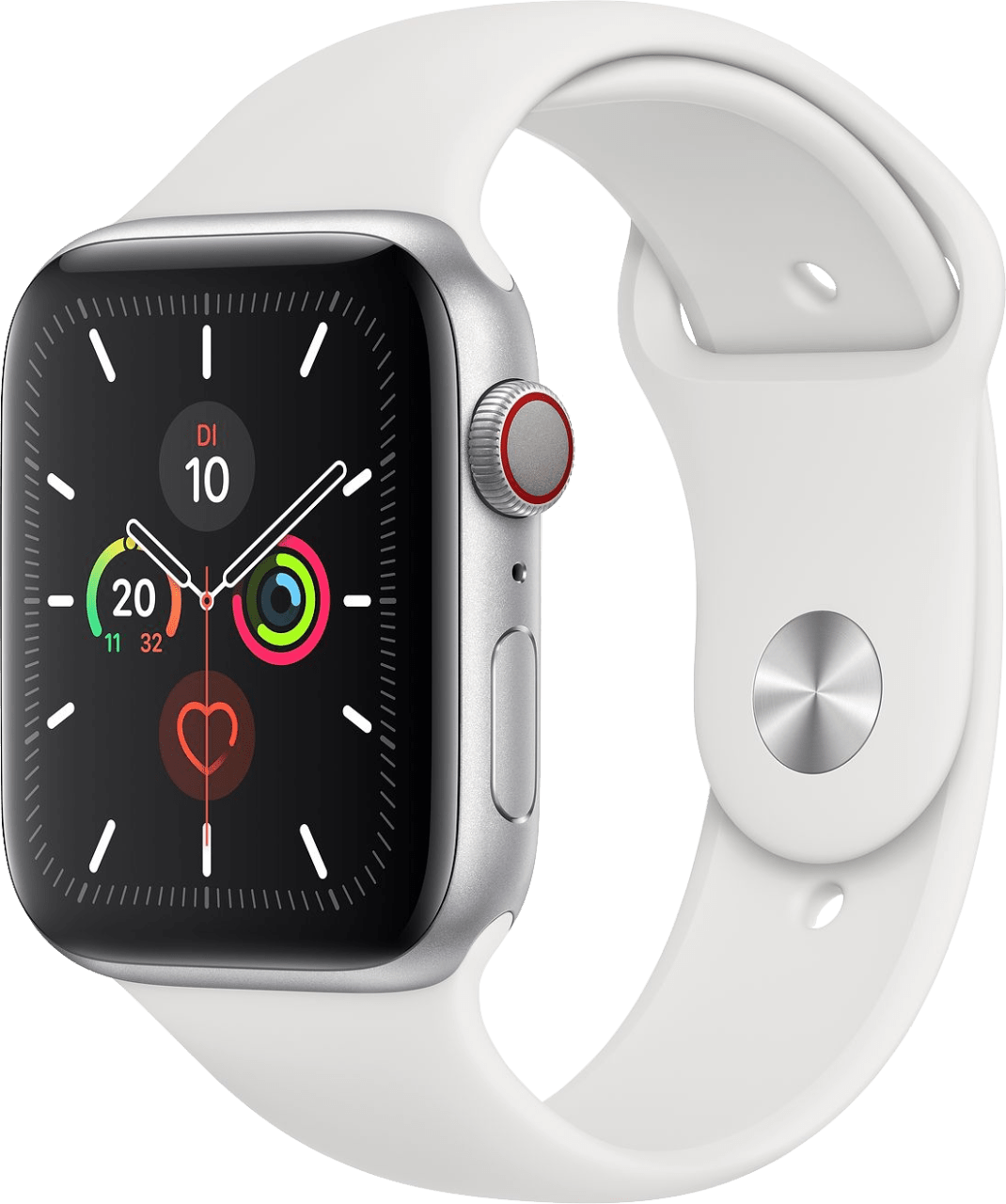 Weiß Apple Watch Series 5 GPS + Cellular, 44mm.2