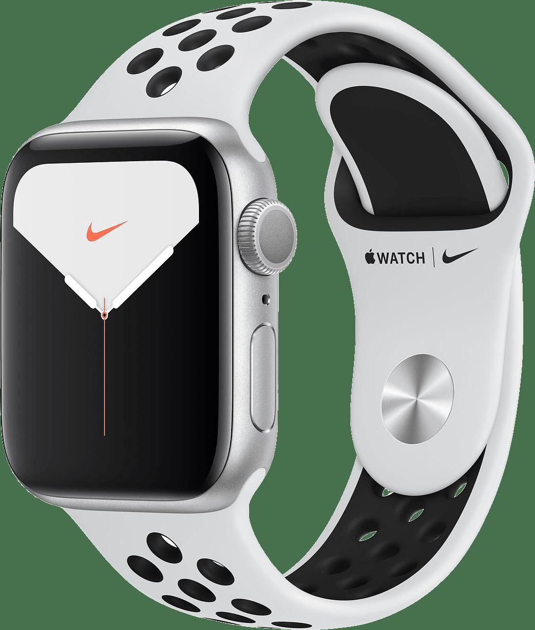 Pure Platinum / Black Apple Watch Nike Series 5 GPS, 40mm.2
