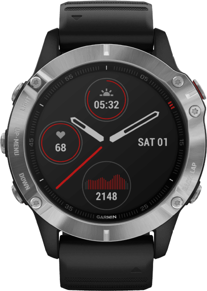 Black Garmin Fenix 6.1
