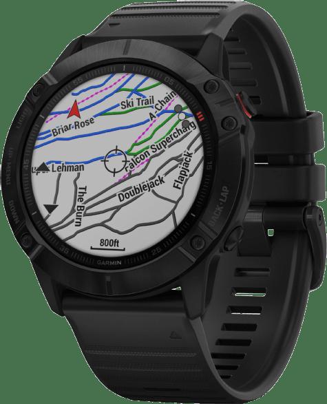 Black Garmin Fenix 6x Pro GPS Sports watch.3