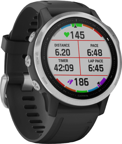 Black Garmin Fenix 6s.4
