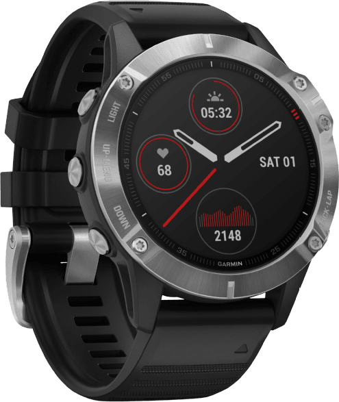 Black Garmin Fenix 6.4