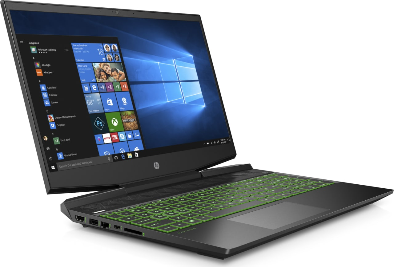 Shadow Black / Acid Green HP Pavilion Gaming 15-dk0007ng.4