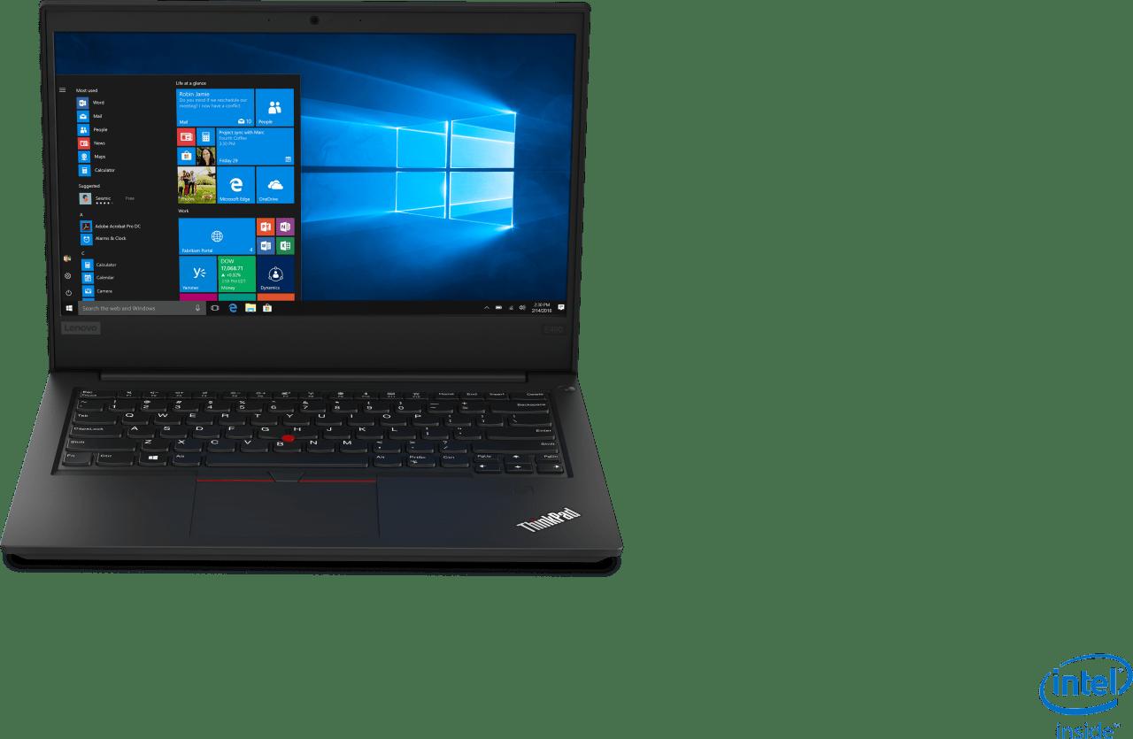 Black Lenovo ThinkPad E490.1
