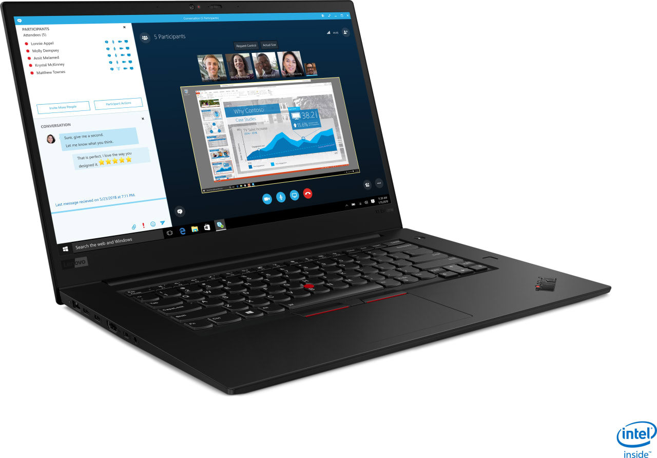 Black Lenovo ThinkPad X1 Extreme G2.3