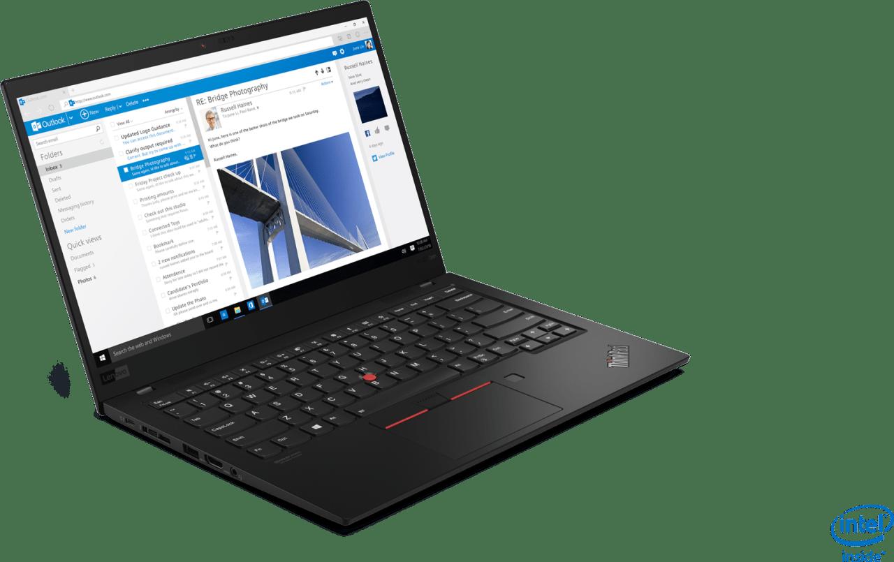 Black Lenovo ThinkPad X1 Carbon G7.3