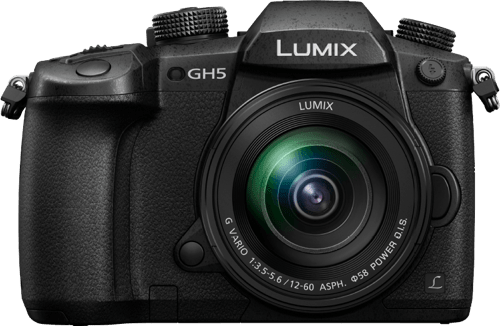 Black Lumix Camera DC-GH5 with Lens 12-60/2.8-4 Leica DG Vario.2