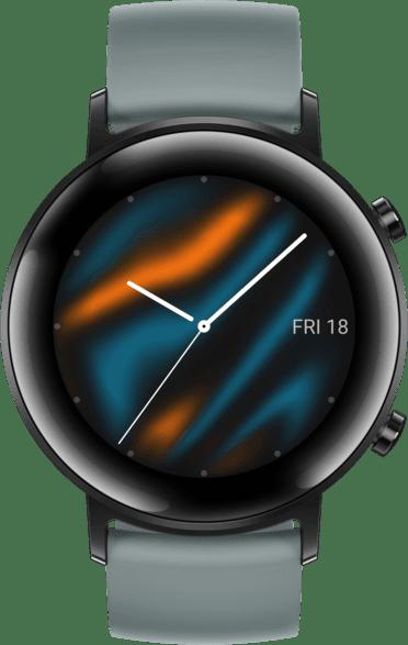 Blue Gray Huawei Watch GT2 Sport Edition, 42mm Stainless steel case, Fluororubber Strap.2
