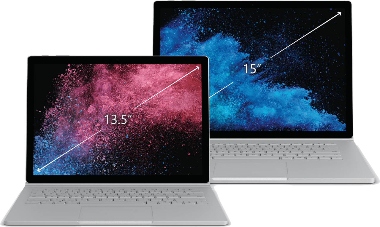 "Silber Microsoft Surface Book 2 15"".4"