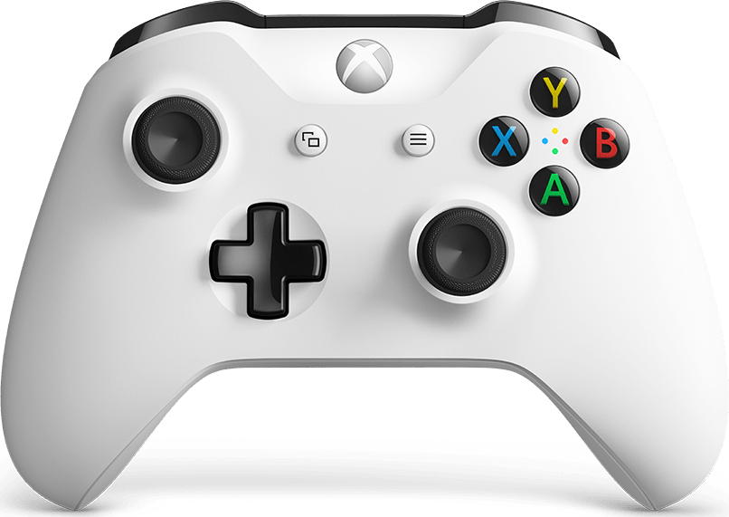 White Microsoft Xbox One X.3