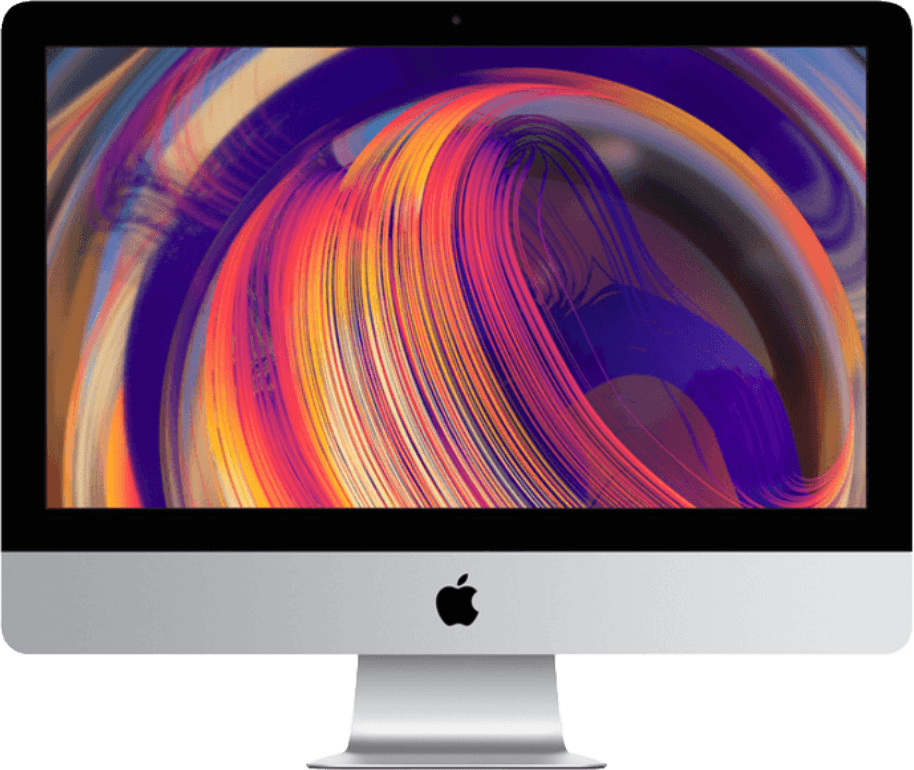 "Silver Apple iMac 21.5"" Retina 4K (Early 2019) - English (QWERTY).1"