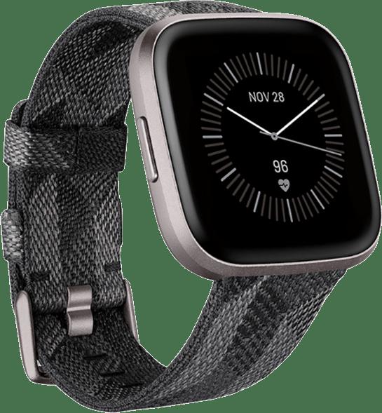 Smoke Woven Fitbit Versa 2 SE Smartwatch.1