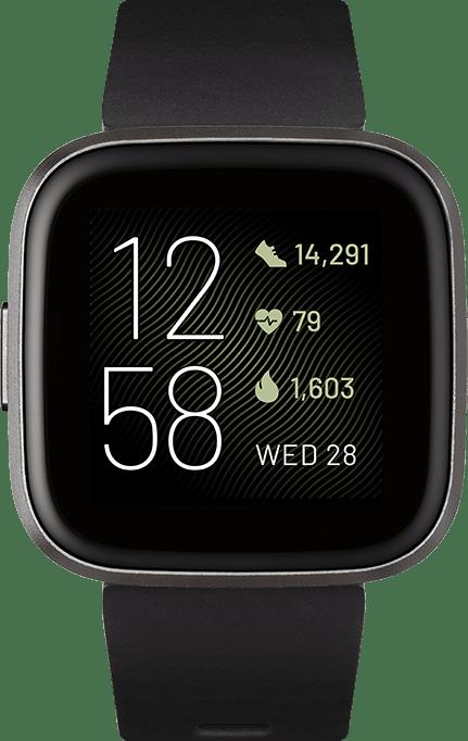 Schwarz Fitbit Versa 2.2