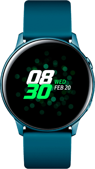 Green Samsung Galaxy Watch Active, 40mm Aluminium case, Silicone band.1