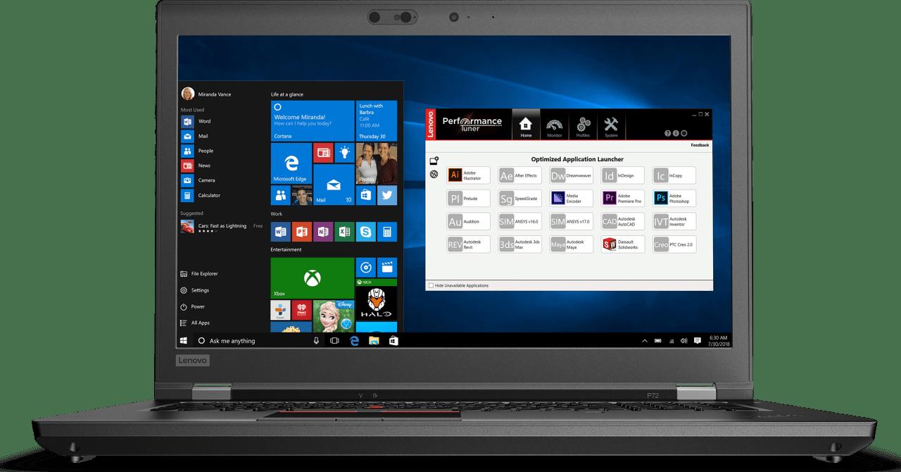 Black Lenovo ThinkPad P72.1