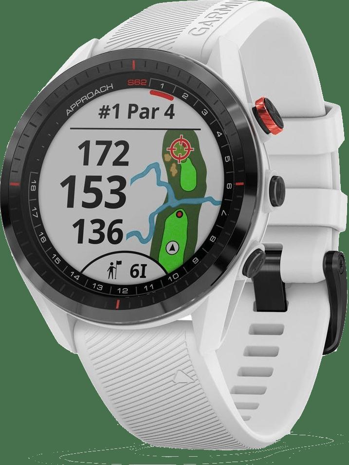 Weiß Garmin Approach® S62 GPS Premium Golf GPS-Uhr.1