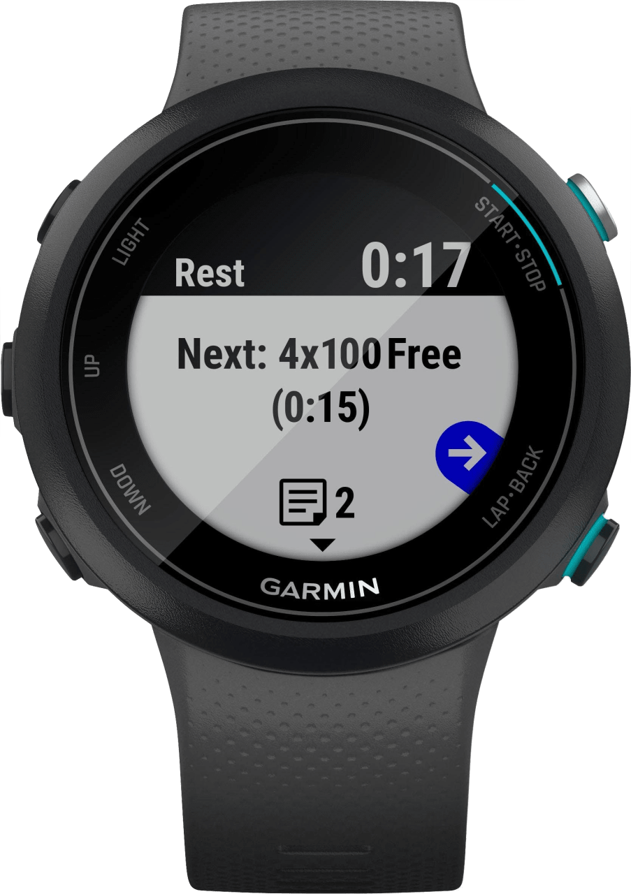 Schiefer grau Garmin Swim ™ 2.2