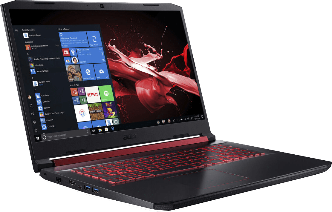 Black / Red Acer Nitro 5 AN517-51-76B3.3